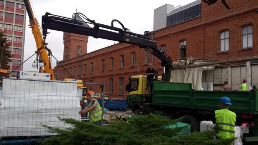 Transport materiałów budowlanych i kruszyw